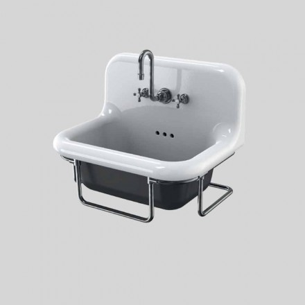 cerámica de pared rectangular Lavabo con estructura suspendida Jim