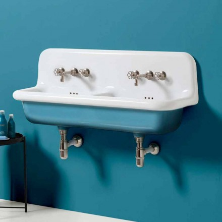 lavabo tanque de doble pared de diseño moderno de cerámica Jack