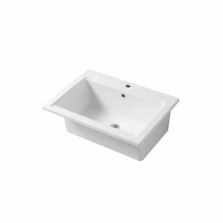 Fregadero de un solo orificio moderno en cerámica blanca o coloreada de Panamá.