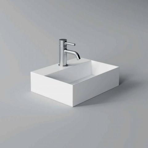 Lavabo cuadrado o rectangular de cerámica de diseño moderno Hecho en Italia - Act