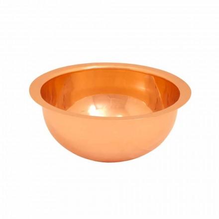 Lavabo redondo de cobre de diseño hecho a mano modelo Flora