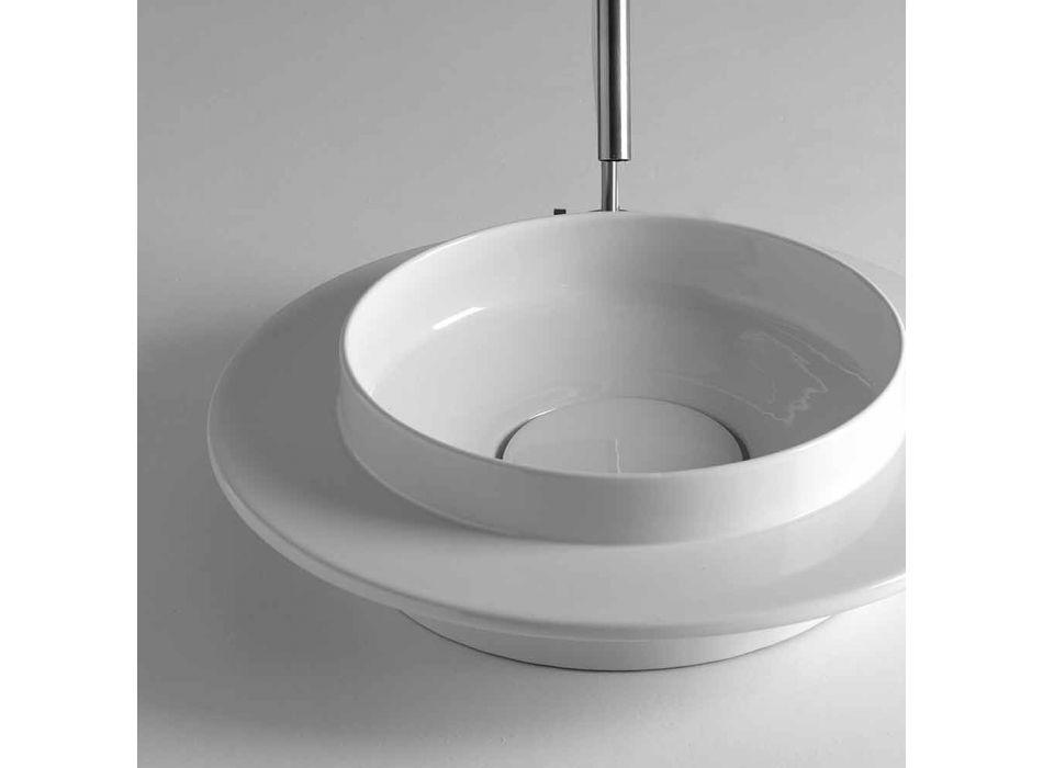fregadero cuarto redondo en el diseño moderno de cerámica Kathy