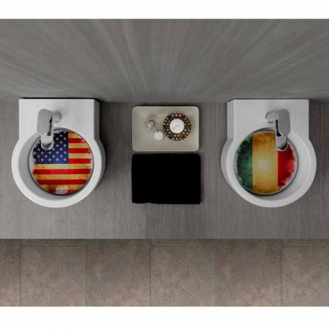 Lavabo sobre encimera de diseño / suspensión hecho en Italia Tor