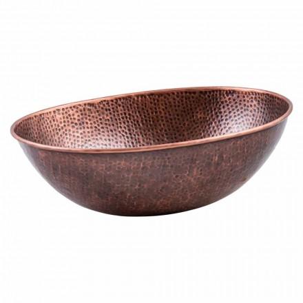 Fregadero de encimera ovalado moderno en cobre, Pagliara