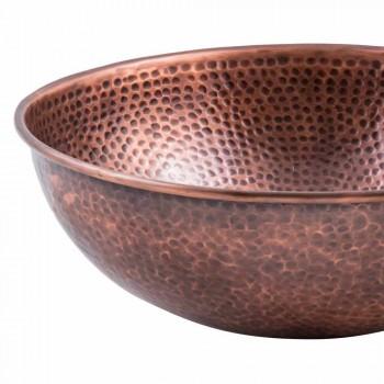 Fregadero de mostrador hecho a mano redondo en cobre, Palaia