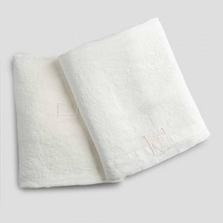 Sábanas Dobles de Lino Blanco Natural con y sin Esquinas - Tenerino