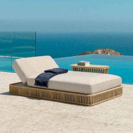 Tumbona reclinable moderna Cliff de Talenti, diseño de Palomba