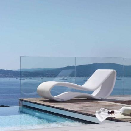 Tumbona de jardín de diseño de color blanco modelo 2.0