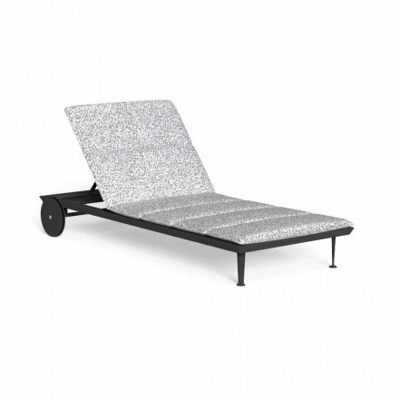 Chaise Longue de jardín reclinable con ruedas de lujo - Cruise Alu by Talenti