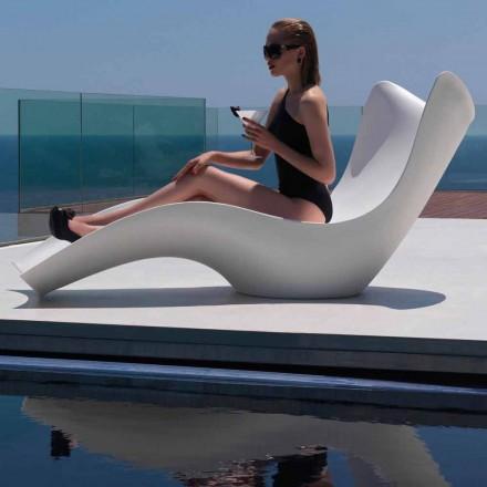 Tumbona de exterior moderna, en polietileno, Surf by Vondom, 2 piezas