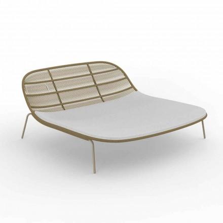 Cama de jardín doble apilable de aluminio y tela - Panama Talenti