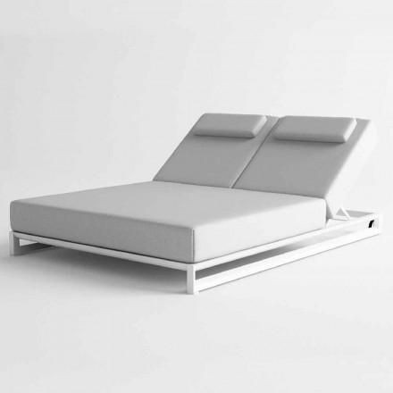 Tumbona de exterior en aluminio y tela - Gioacchino