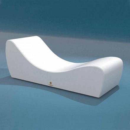 Tumbona relax de diseño de ecopiel náutica blanca Onda Trona