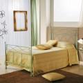 Cama de una hora y media en hierro forjado verde cobre Gabriella