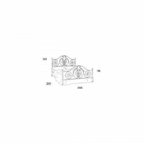 cama doble clásica con la decoración de hierro forjado Rachael