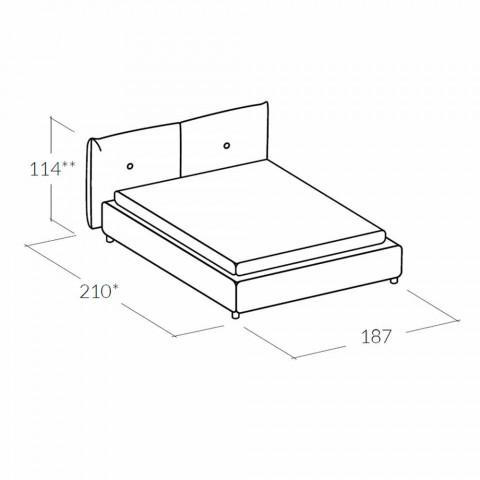 Cama doble con caja de almacenamiento alcanzando un máximo de 160x190 / 200 cm Nina
