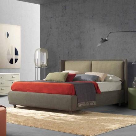 Cama doble con cama contenedor, diseño moderno, Kate by Bolzan