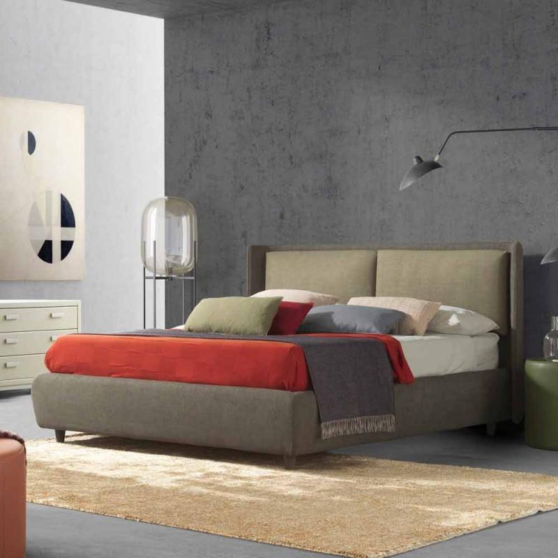 Cama doble con espacio de almacenamiento, diseño moderno, Kate by Bolzan