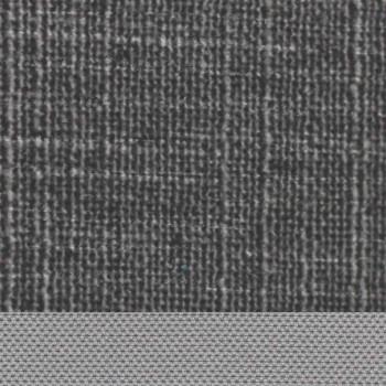 Cama doble con contenedor forrado en tela Made in Italy - Renato