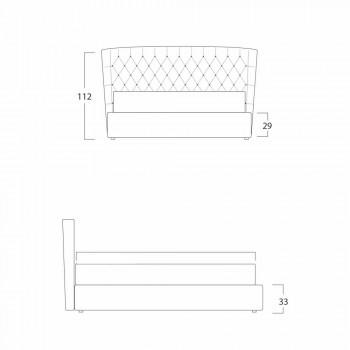 Cama doble de diseño moderno Selene Bolzan con cabecero acolchado