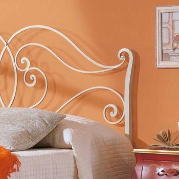 cama de matrimonio de hierro sólido diseño de Allie, fabricado en Italia