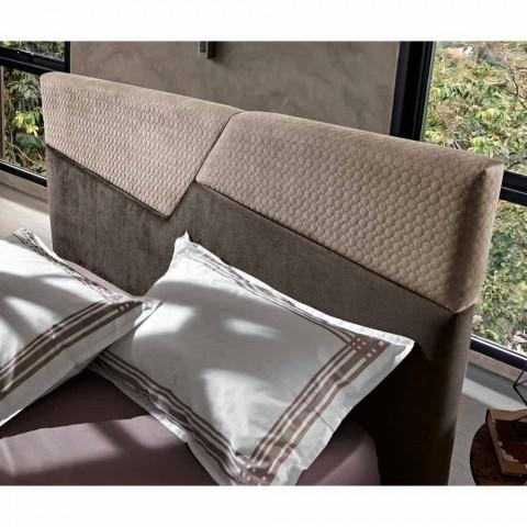 Cama doble de diseño moderno con cabecero plegable o acolchado - Alano