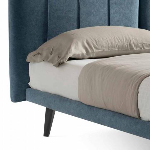 Cama doble de diseño moderno en tela Made in Italy - Nives