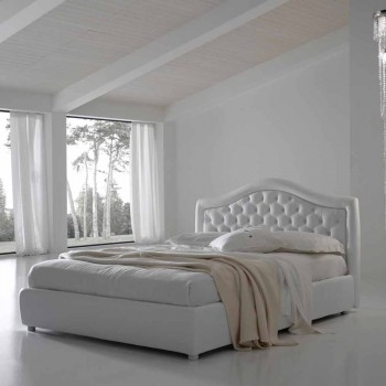 Cama doble capitoné acolchada, diseño clásico, Capri Bolzan