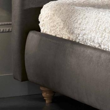 cama doble tapizada con caja de almacenamiento 160x190 / 200cm Leona