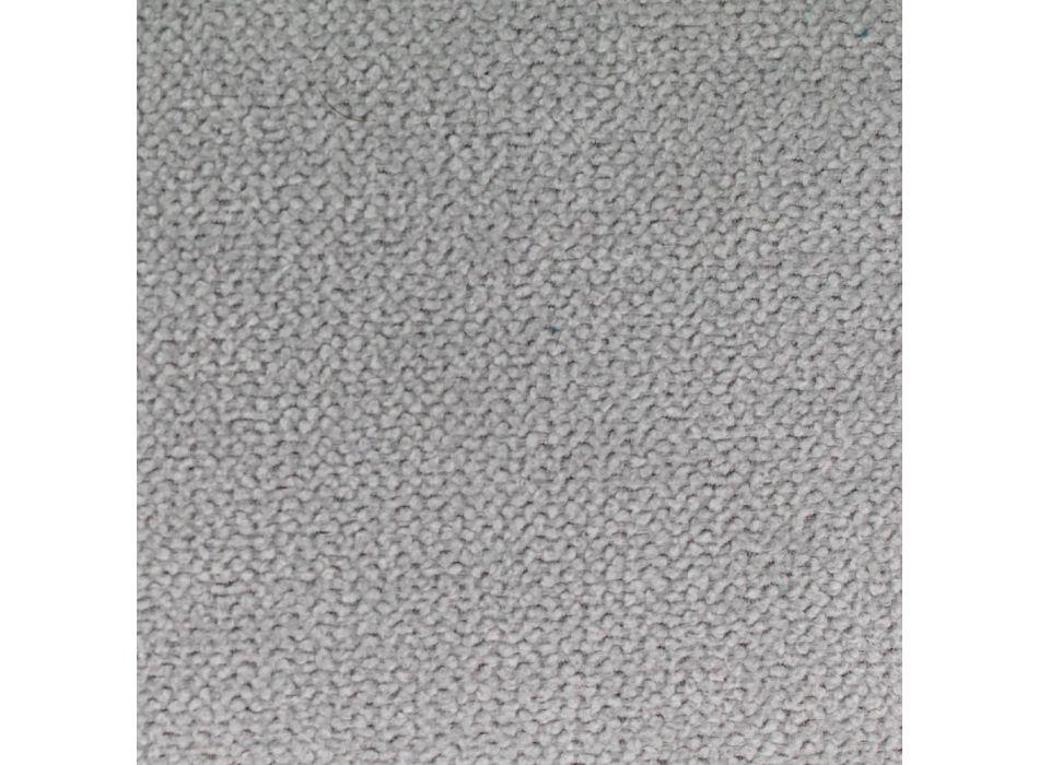 Cama tapizada doble con caja en piel sintética o tela Made in Italy - Merluza