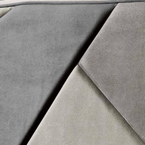 Bed cama tapizado con contenedor de elevación 160x190 / 200cm Mia