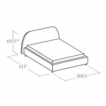 cama doble moderna tapizada con 160x190 contenedor / 200 Reby