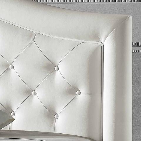 cama doble tapizada en piel sintética con caja de 160x190 / 200 cm Agly