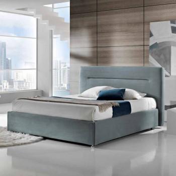 cama doble tapizada contemporánea con la caja de alcanzar un máximo de 160x190 / 200cm Sun