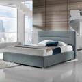 Cama doble moderna tapizada con caja solar de 160x190 / 200cm