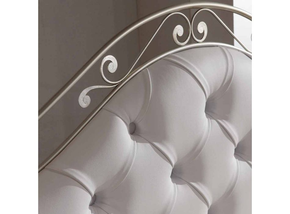 Tapizados a mano cama doble en hierro sólido Gracie
