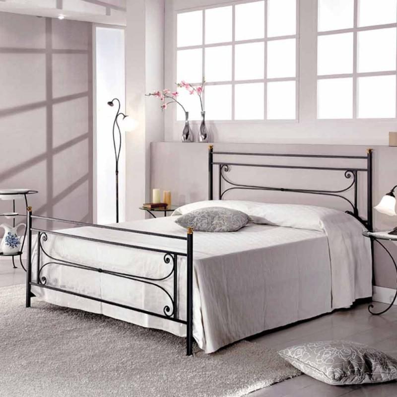 cama doble en hierro forjado con la artesanía razón Evelyn