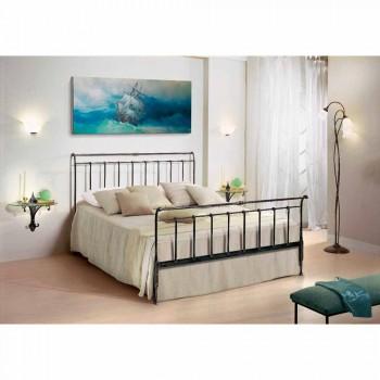 cama doble en hierro forjado mano llena hizo Kate