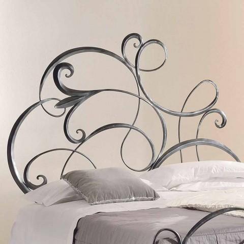 cama de hierro doble con cabecero en hoja forjada Allison