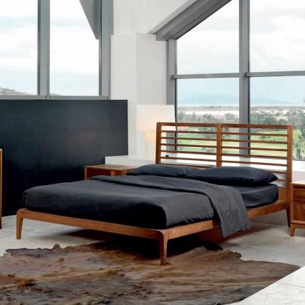 Made in Italy cama doble con base de nogal maciza Didimo