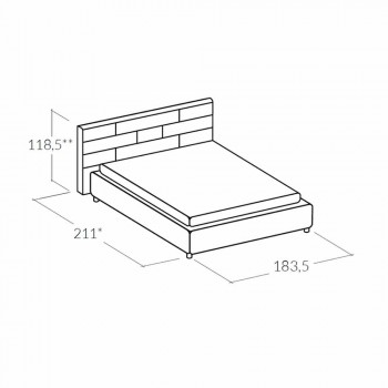 cama doble moderna con caja de almacenamiento 160x190 / 200 cm Gin
