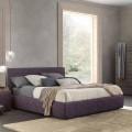 Cama matrimonial moderna, con contenedor de cama, Gaya New by Bolzan
