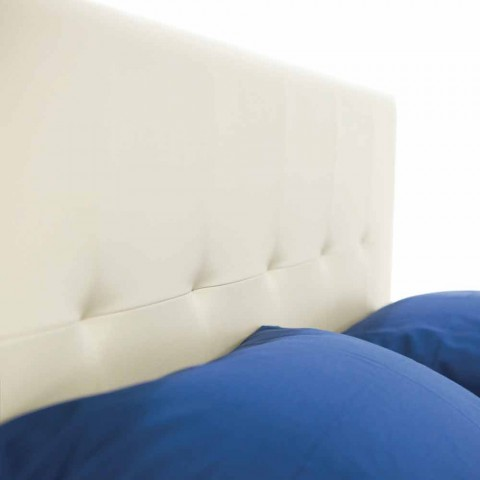 Cama doble moderna con pies de polipropileno Made in Italy - Patos