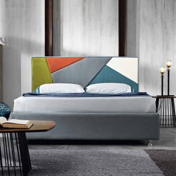 cama doble tapizada contemporánea con el cuadro de pico 160x190 / 200cm Mia