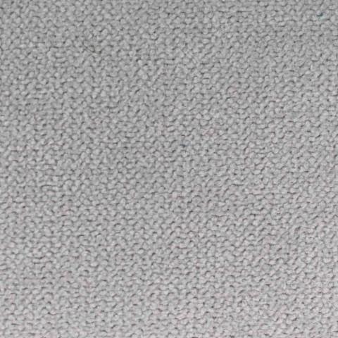 Cama doble tapizada en tela con pies negros Made in Italy - Bandola