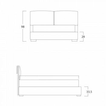 Cama doble sin caja, diseño contemporáneo, Iorca by Bolzan.