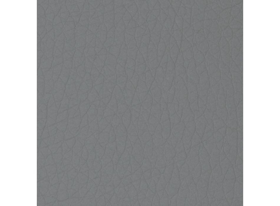 Cama doble de diseño redondo recubierta con piel sintética - Faenza