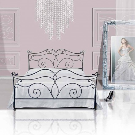 Una cama de plaza y media Hierro forjado Febo