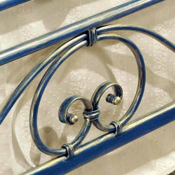 Cama de matrimonio de hierro forjado aplastado Gloria Diseño