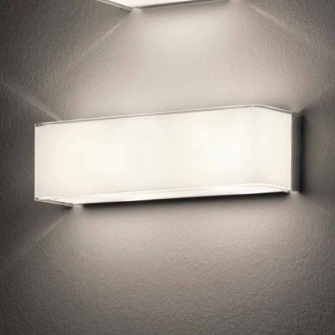 Leucos bloque de pared applique Led en vidrio blanco